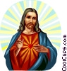 Vector Clipart illustration  of a Jesus