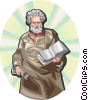 Vector Clip Art image  of a Saint Peter