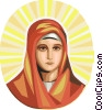 Virgin Mary Vector Clipart graphic