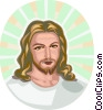 Vector Clipart image  of a Jesus