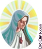 Vector Clipart graphic  of a Virgin Mary