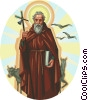 Vector Clip Art graphic  of a Saint Anthony the Abbot
