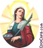 Vector Clipart picture  of a Saint Lucy