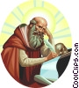 Saint Jerome Vector Clipart graphic