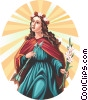 Vector Clipart illustration  of a Saint Philomena