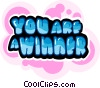 Vector Clipart graphic  of a You are a winner