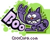 Vector Clip Art image  of a Hyper cat