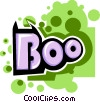 Boo banner Vector Clip Art picture