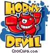 Vector Clipart illustration  of a Horny Devil