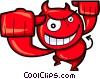 Horny Devil Vector Clip Art image