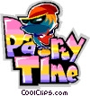 Party time Vector Clip Art picture