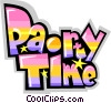 Vector Clip Art graphic  of a Party time