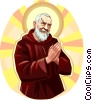 Vector Clip Art picture  of a Saint Pio of Pietrelcina