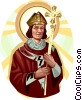 Saint Thomas Becket Vector Clip Art graphic