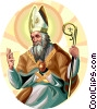Vector Clipart graphic  of a Saint  Ambrose