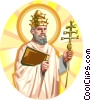Saint Leo the Great Vector Clipart illustration