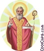 Vector Clip Art graphic  of a Saint Nicholas