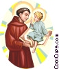 Saint Anthony of Padua Vector Clipart picture