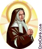 Vector Clipart graphic  of a Saint Bernadette