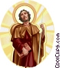 Vector Clip Art image  of a Saint James the Great
