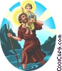 Saint Christopher Vector Clip Art picture
