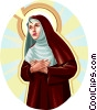 Vector Clip Art graphic  of a Saint Rita