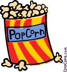 Clip art of popcorn