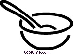 Bowl and spoon Vector Clip art