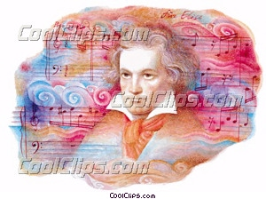 Ludwig Van Beethoven Fineart Raster illustrazione clipart wb023211