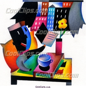 person having breakfast Royalty Free Fineart Raster Illustration Clipart wb031919