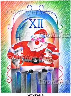 Santa Fineart Raster Illustration libre de droits Clipart wb032141