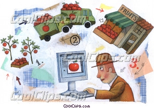 Farmers Royalty Free Fineart Raster Illustration Clipart wb032353