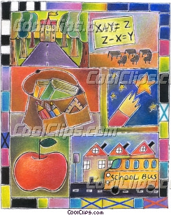 School Subjects Royalty Free Fineart Raster Illustration Clipart wb033263