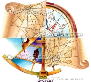 Maps and Charts Royalty Free Fineart Raster Illustration Clipart wb042611