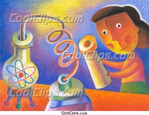 scientists and researchers Royalty Free Fineart Raster Illustration Clipart wb044212