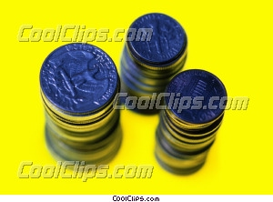 stacks of coins Royalty Free Stock Photo Clipart wb026127