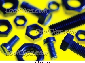 nuts and bolts Royalty Free Stock Photo Clipart wb026177