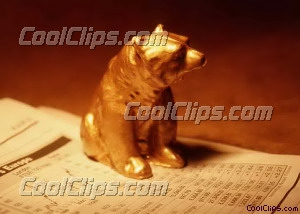 model bear on top of stock page Royalty Free Stock Photo Clipart wb026226