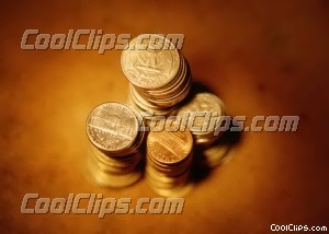stack of coins Royalty Free Stock Photo Clipart wb026257