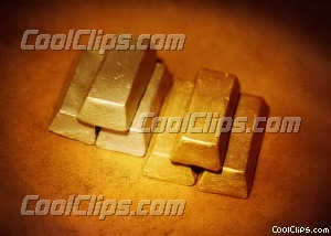 stacks of silver bars and gold bars Royalty Free Stock Photo Clipart wb026277