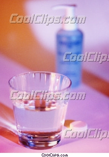 glass of water, vitamin C Royalty Free Stock Photo Clipart wb026910