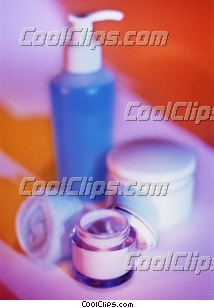 lotion bottle and jar of gel Royalty Free Stock Photo Clipart wb026937