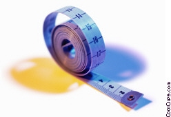 rolled measuring tape Royalty Free Stock Photo Clipart wb026979