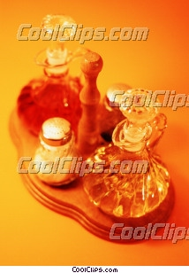 oil and vinegar set Royalty Free Stock Photo Clipart wb027666
