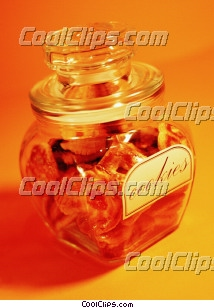 cookie jar Royalty Free Stock Photo Clipart wb027671