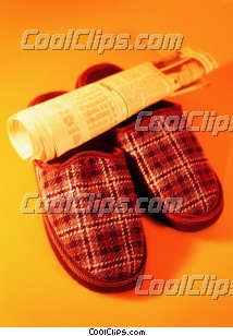 pair of man's slippers Royalty Free Stock Photo Clipart wb027700