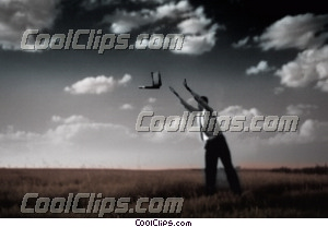 businessman throwing laptop Royalty Free Stock Photo Clipart wb028037