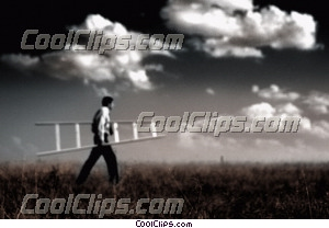 man carrying ladder (sample image) Royalty Free Stock Photo Clipart wb028049