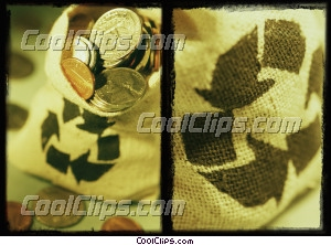 bag of coins Royalty Free Stock Photo Clipart wb032421