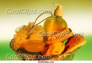 bath supplies Royalty Free Stock Photo Clipart wb032967